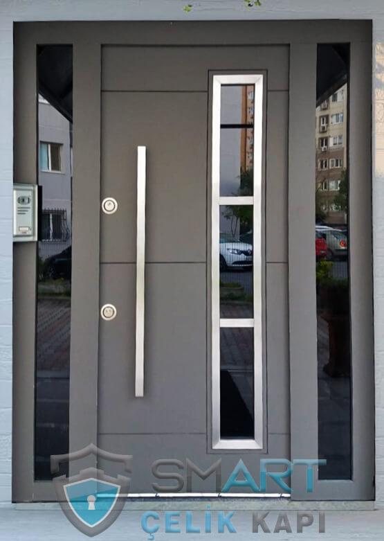 kompak lamine villa kapısı özel üretim villa giriş kapısı