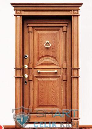 çelik-kapı-modelleri-klasik-çelik-kapı-modelleri-ahşap-kaplama-kale-kilit